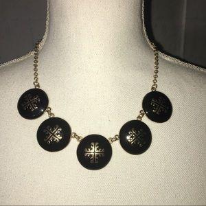 Jewelry - Black & Gold Medallion Statement Necklace Choker